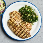 Double lemon & herb chicken with new grain salad & chips
