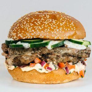 Slow Cooked Lamb Burger
