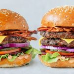 Loaded single and double burger